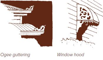 Guttering and hood window styles