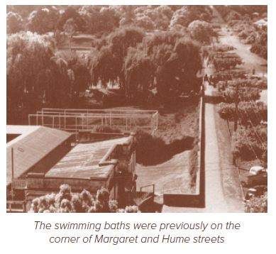 Swimming baths on Margaret and Hume streets