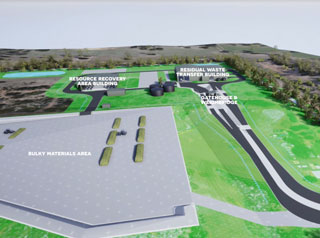 Kleinton Waste Transfer Facility artist impression