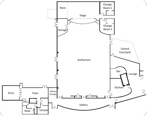 Oakey Cultural Centre map