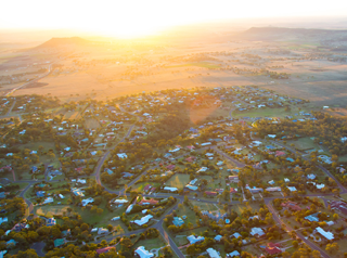 West Toowoomba aerial
